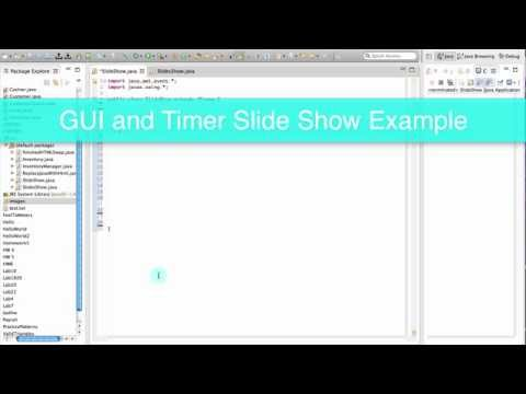 GUI and Timer Example Java