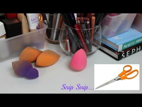 Cutting Open Beauty Sponges | Beauty Blender, Real Techniques, & Sephora Sponge