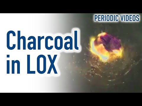Liquid Oxygen (slow motion) - Periodic Table of Videos