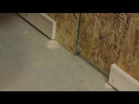 How to Trim a Wood Baseboard While Installed on the Wall : Trim Installation & Maintenance