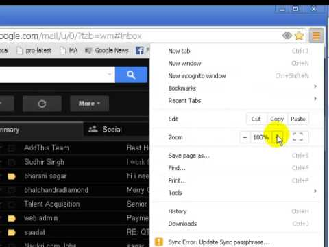 How to increase font size in gmail