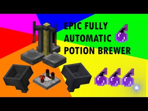 Fully Automatic Potion Brewer in Minecraft ! Splash Potion of Harming II !