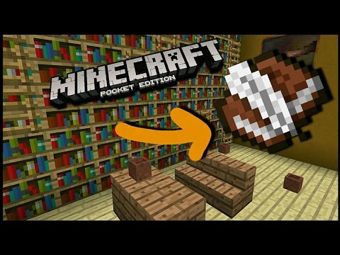 How to make a Working BookShelf- Minecraft Pocket Edition