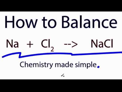 How to Balance:  Na  +   Cl2  =   NaCl