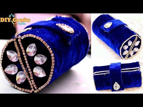Cardboard Clutch Purse   No Sew   Fabric   Indian   DIYCrafts India #34