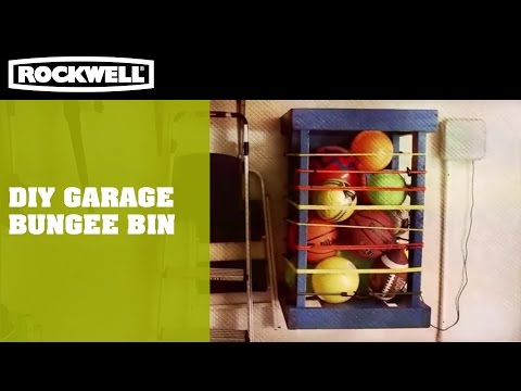 DIY Garage Bungee Bin