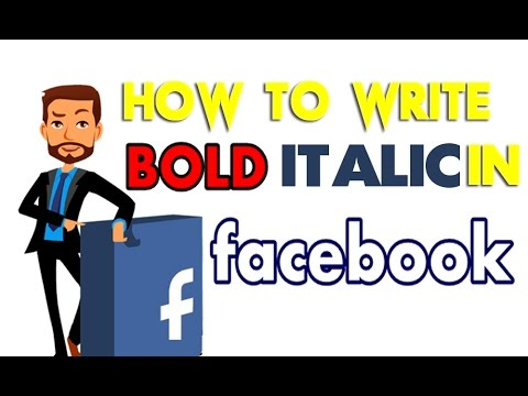 How to use Bold, Italic, Underline Text in Facebook