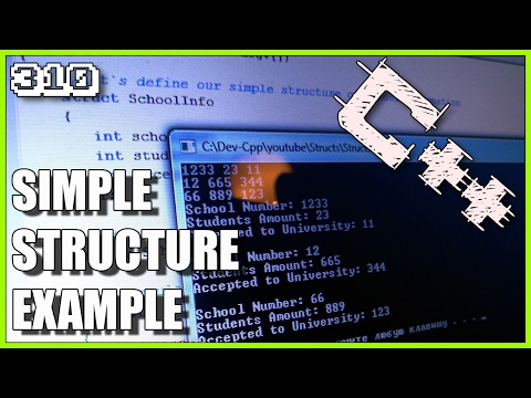 C++ Simple structure and array of struct example