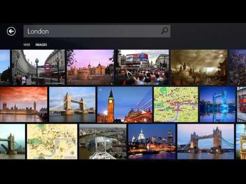 Bing Search on Windows 8
