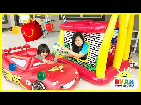 McDonald's Drive Thru Mommy on Disney Cars Lightning McQueen Power Wheel Ride On Car