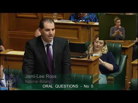 Question 5 - Jami-Lee Ross to the Minister of Transport