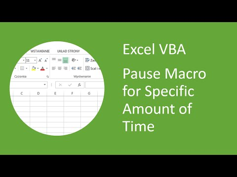 Excel VBA - How to Pause Macro for Specific Amount of Time