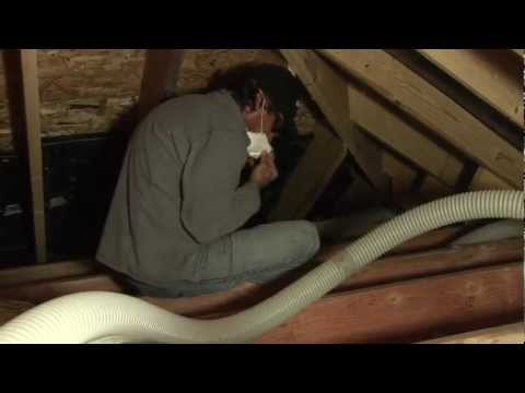 Sealing and Insulating a Cathedral Ceiling and Attic with Foam and Blown Cellulose