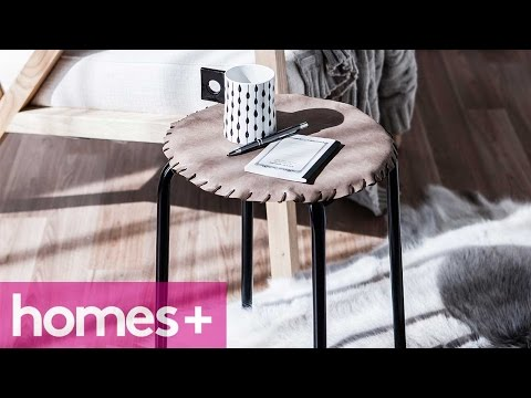 DIY PROJECT: Stitched leather stool - homes+