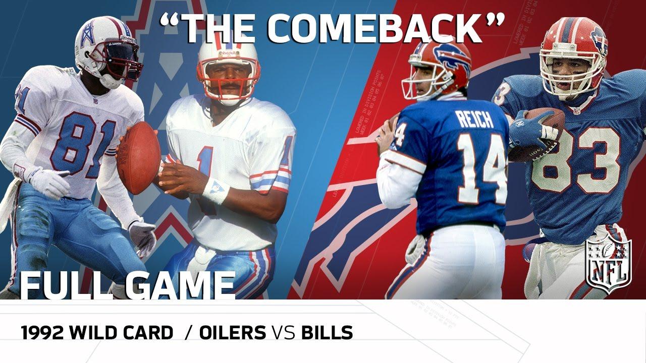 "1992 AFC Wild Card: Houston Oilers vs. Buffalo Bills | ""The Comeback"" | NFL Full Game"