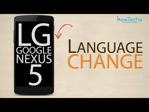 LG Google Nexus 5 - How to change the language