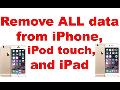 Remove ALL data from iPhone 8 / 7 / 6S / 6 /iPad/iPod touch