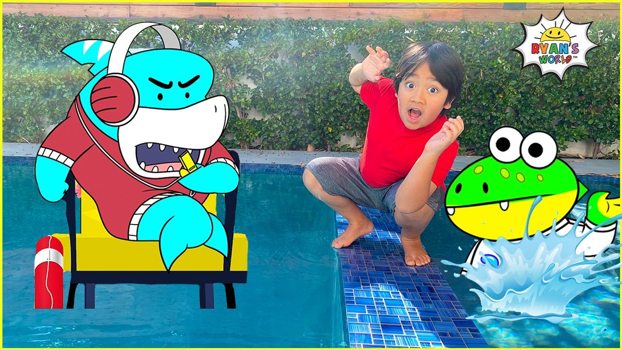 Ryan learns Swimming Rules at the Pool with Gus!