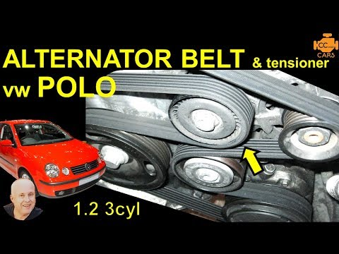 VW Polo 9N Serpentine Belt / Auxilliary Belt Replacement 1.2 3 Cyl