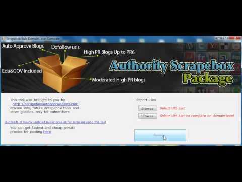 Scrapebox Bulk Domain Level Compare.avi
