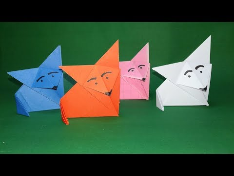 Origami Animals-DIY#How to make origami fox easy step by step?paper craft for kids-Easy craft.