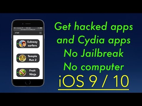 How to get hacked apps and Cydia apps No Jailbreak / No computer iOS 9 / 10