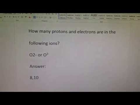 .the ion O2- has how many protons and how many electrons?