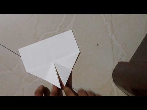 How to make a paper airplane glider Manta re-designed by me (Read the description)