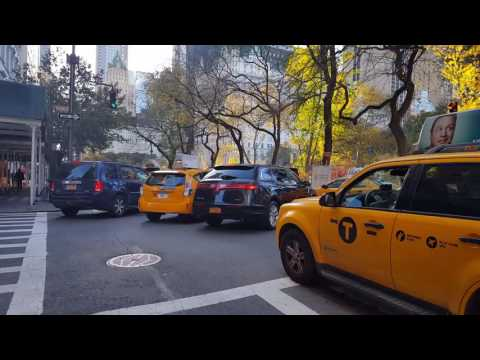Evening rush hour traffic at 5th avenue in NYC (traffic jam, road rage)