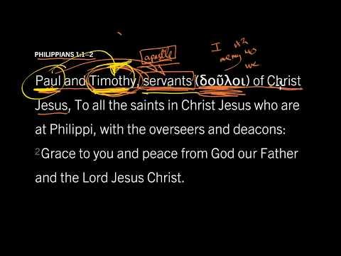 Philippians 1:1 // Do You Serve God or Man?