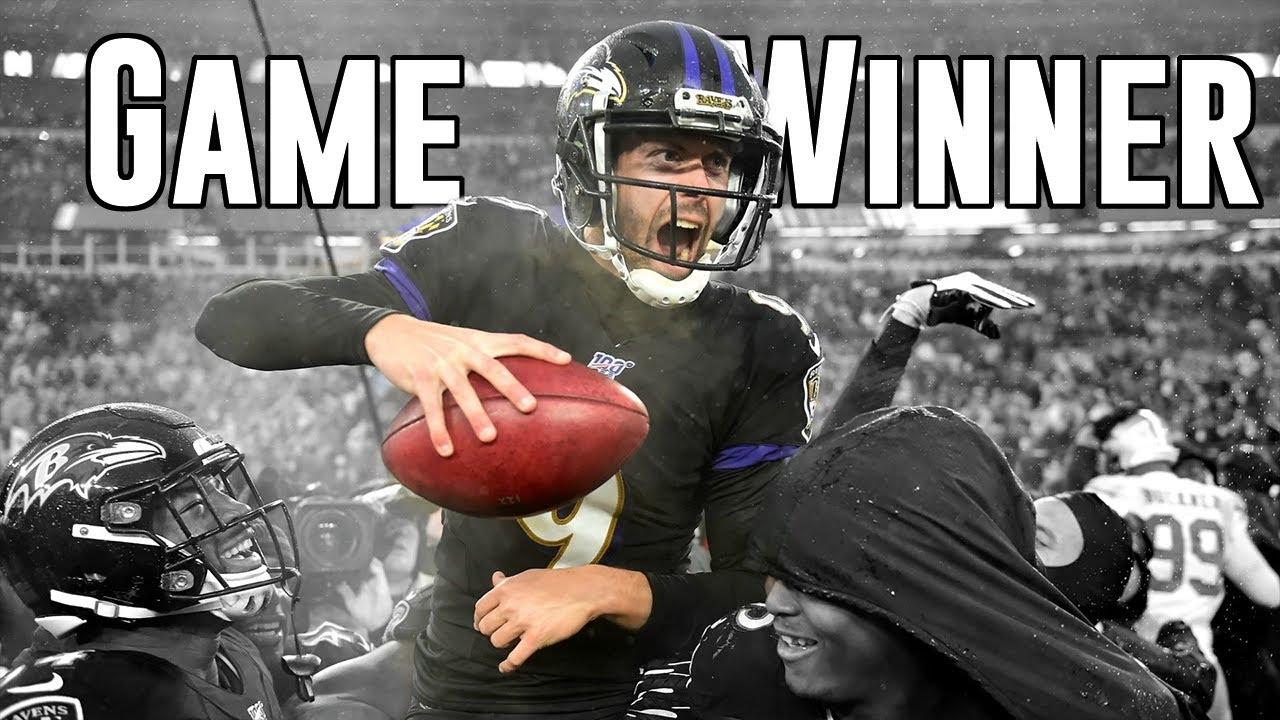 All Justin Tucker Game-Winning Field Goals (In Order) | ft. Funny Dances | NFL Highlights