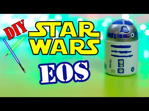 Star Wars Crafts-DIY Star Wars EOS Lip balm -Make Your Own EOS Design - R2-D2 Droid Eos