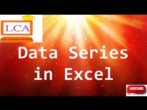 MS Excel Telugu Tutorials - Fill Series in Excel 2007 ( Telugu)