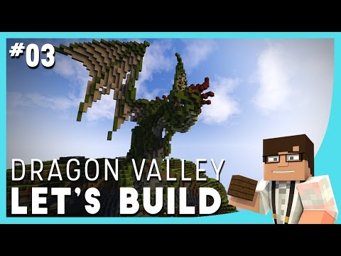 Minecraft Let's Build: Dragon Valley Ep. 3 || First DRAGON! - Timelapse