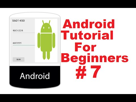 Android Tutorial for Beginners 7 #  Adding Two Numbers App (Simple Calculator)