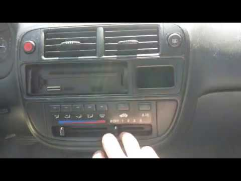 HOW TO EASILY REPLACE THE BLOWER MOTOR RESISTOR IN A HONDA CIVIC 1998