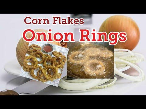 Crispy Onion Rings | Corn flake Onion Rings | Onion snacks | How to make Onion Rings| eatinghub
