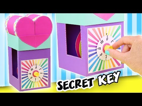 MAKE A GIFT WITH SECRET KEY - THE COMBINATION LOCK | aPasos Crafts DIY