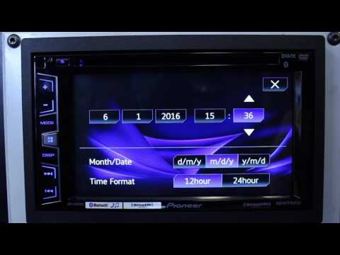 How to do set the clock on your Pioneer AVH radio