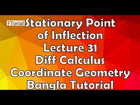 Stationary Point of Inflection   Lecture 31   Diff Calculus and Coordinate Geometry Bangla Tutorial
