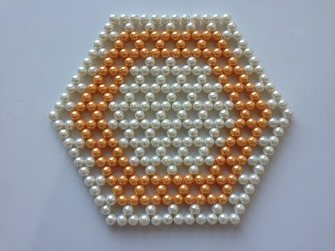 How to make beaded table mat | DIY table mat | Beads art