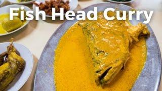 Indonesia Food - STUNNING Fish Head Curry at Rumah Makan Medan Baru in Jakarta, Indonesia!