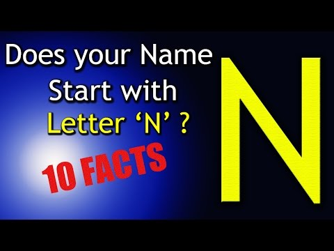 10 Facts about the People whose name starts with Letter 'N' | Personality Traits