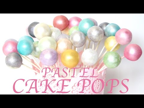 how to make PASTEL RAINBOW CAKE POPS WITH PEARL DUST | Its A Piece Of Cake