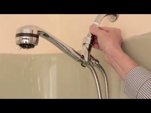 The Spa Hand Held Shower Head with volume control  - Installation and Features