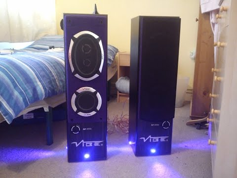 custom speaker box with car stereo vibe audio slick and pioneer build