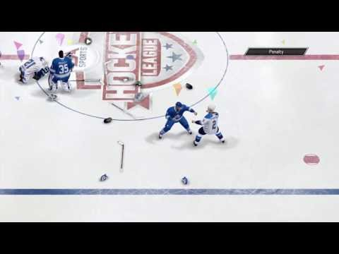 NHL 14 - OTP - 4 fights break out (including goalies)