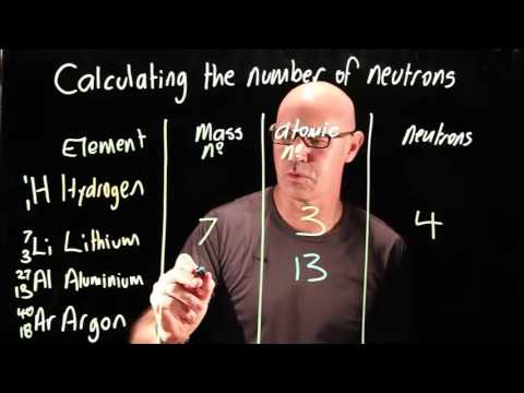 Calculating the number of neutrons in an atom