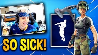 ninja reacts new twitch prime pack epic fortnite epic funny - new twitch skin for fortnite