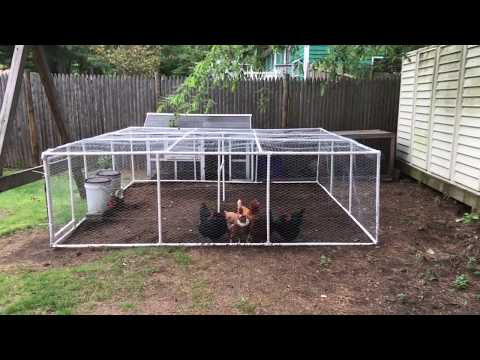 How To Make a 10 X 10 PVC Chicken Run